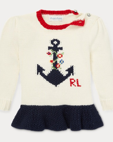 Intarsia Anchor Cotton Sweater
