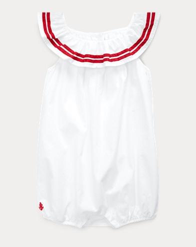 Striped Cotton Bubble Shortall