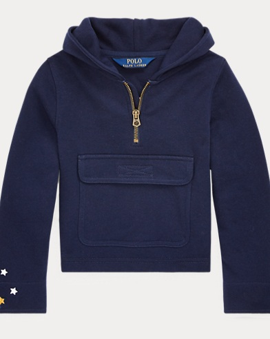 French Terry Half-Zip Hoodie