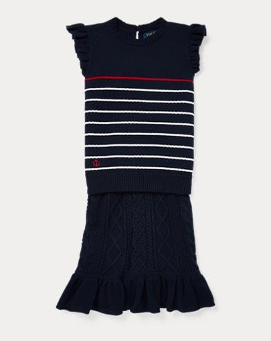 Striped Sweater & Skirt Set