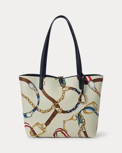Faux-Leather Reversible Tote