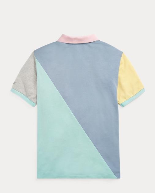 3eaf0d988 Boys 8-20 Patchwork Cotton Mesh Polo 2. Kids Boys Polo Shirts ...