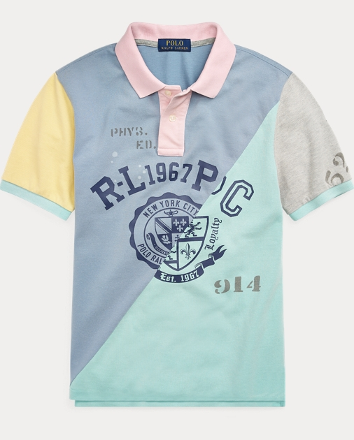 295192b8 Boys 8-20 Patchwork Cotton Mesh Polo 1