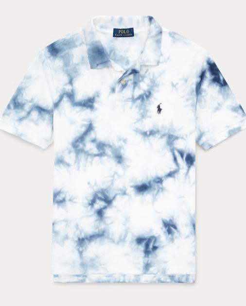 ea57b25854 Tie-Dye Cotton Mesh Polo