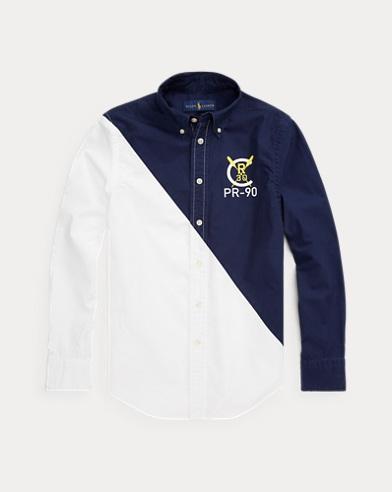 Color-Blocked Cotton Shirt