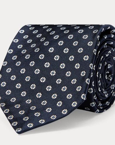 Neat Silk Narrow Tie