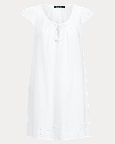 Embroidered Cotton Nightgown