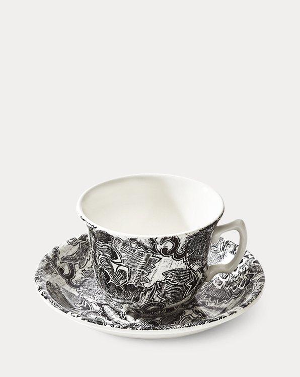 Tasse à thé et soucoupe Faded Peony
