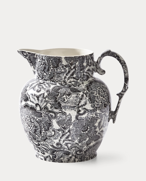 Faded Peony Etruscan Pitcher