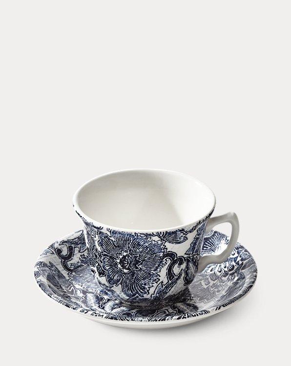 Taza de té y platillo Faded Peony