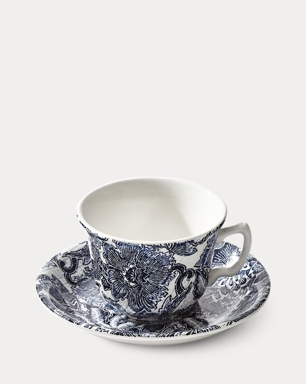 Faded Peony Teacup & Saucer
