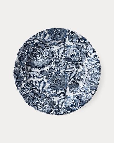 Faded Peony Salad Plate