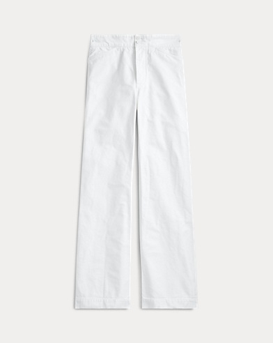 Mid-Rise Flare Cotton Pant