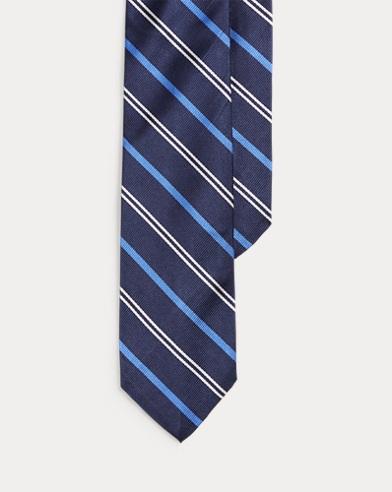 Silk Repp Narrow Tie