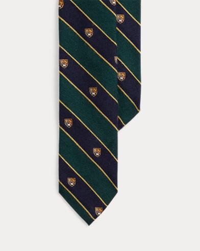 Wool-Silk Narrow Club Tie