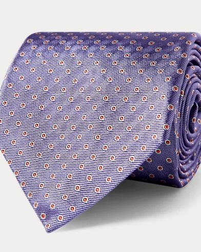 Circle Silk Jacquard Tie