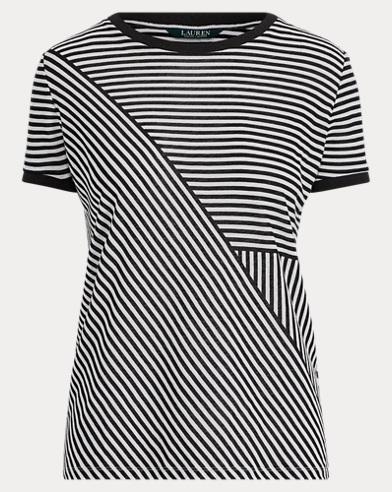 Print Linen-Blend Tee