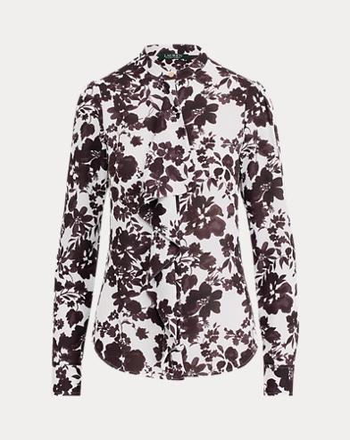 Ruffled Georgette Shirt