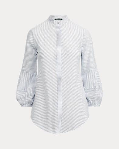 Cotton-Blend Puff-Sleeve Shirt