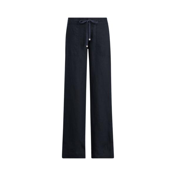 폴로 랄프로렌 Polo Ralph Lauren Linen Wide-Leg Pant,Lauren Navy