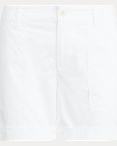 Short en sergé de coton