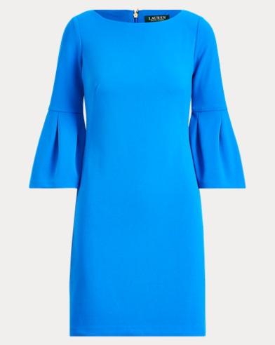 Bell-Cuff Jersey Dress