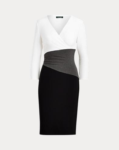 Jerseykleid in Color-Block-Optik