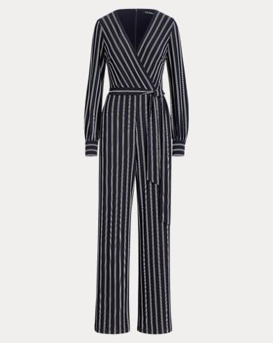 Striped Jersey Jumpsuit