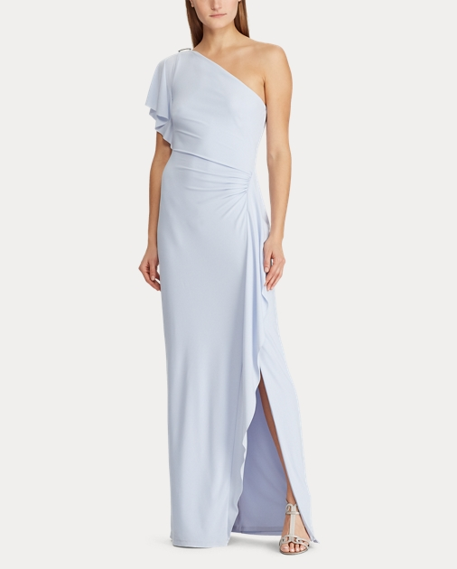 eb32623266 Brooch One-Shoulder Gown