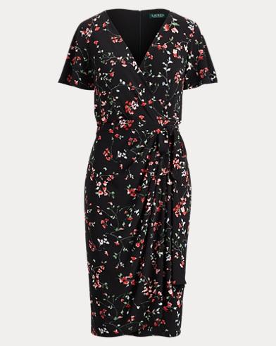 Floral Jersey Wrap Dress