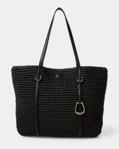 Crochet Straw Large Tote