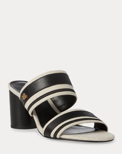 Sandale Elmarie aus Baumwolle und Leinen