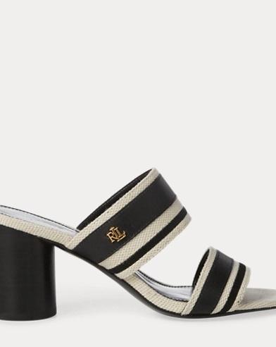 Sandales Elmarie en coton et lin