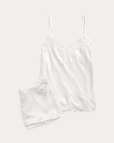 Lace-Trim Pyjama Short Set