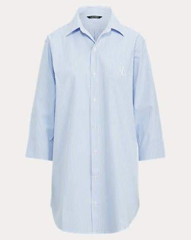 Striped Cotton Sleep Shirt