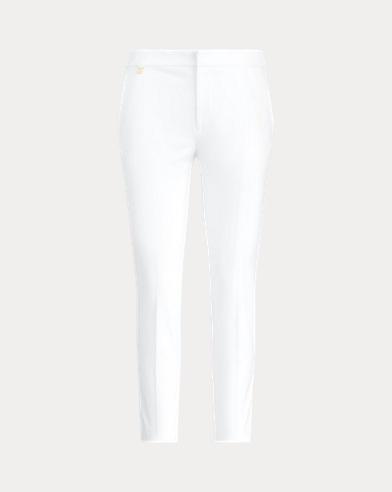 Skinny-Fit Hose aus Baumwolltwill