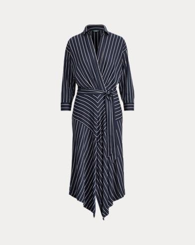 Striped Twill Shirtdress