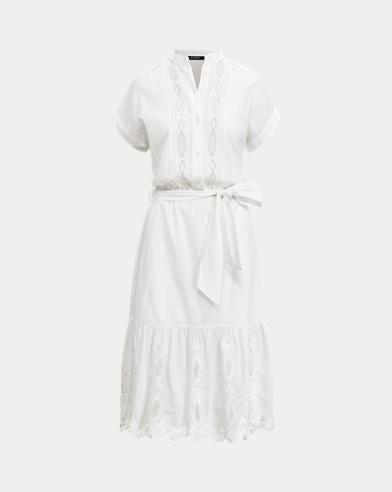 Eyelet-Trim Cotton Dress