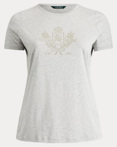 Maglietta in misto cotone con logo