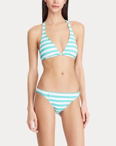 7bc1d5282283a Striped Halter Bikini Top. Polo Ralph Lauren