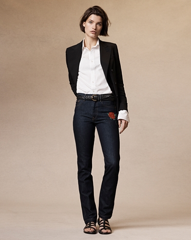 Reede High-Rise Straight Jeans