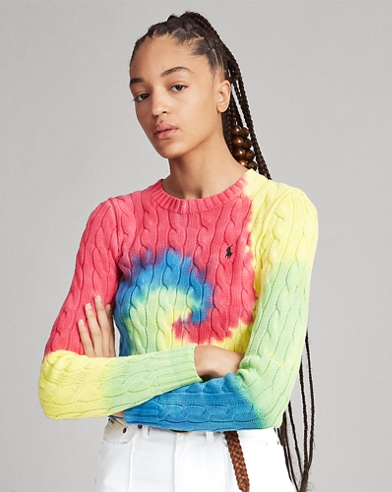 Tie-Dye Cable Sweater