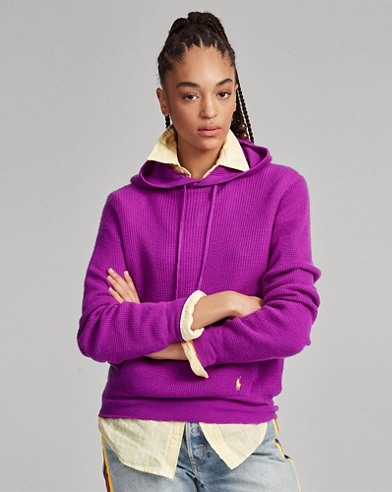 Cashmere Drawcord Hoodie