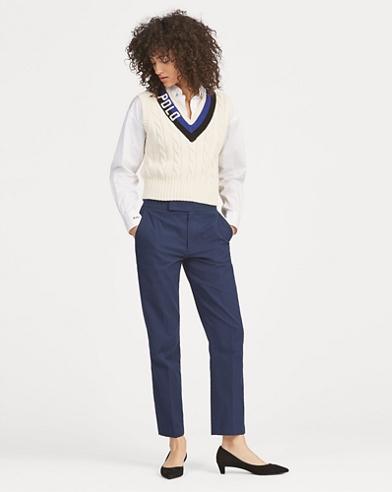 Cotton Straight Pant