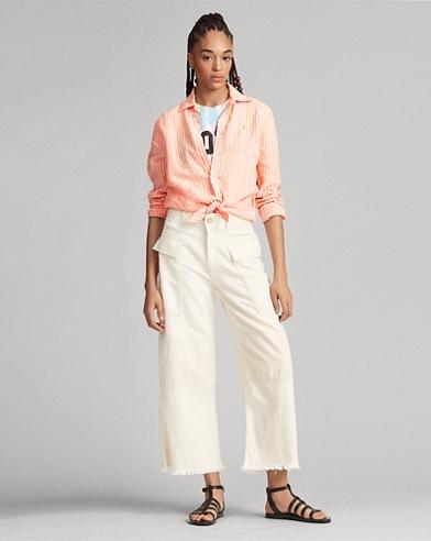 Cotton Crop Cargo Pant
