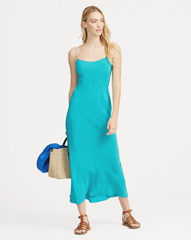 Silk Slip Midi Dress