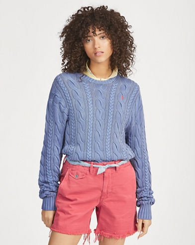 Women S Sweaters In Cashmere Wool Cable Knit Ralph Lauren