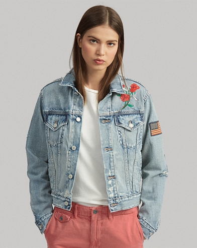 dab82cad92e60 Embroidered Trucker Jacket