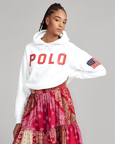 Polo Drawcord Fleece Hoodie