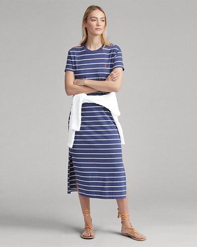 70347d4a5a8 Striped Cotton T-Shirt Dress